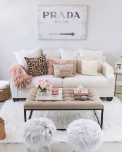 10 Cozy Feminine Living Rooms Decoration Ideas | Living room ... | living room update ideas