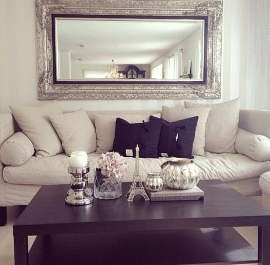 10 Gorgeous Living Rooms with Mirrors - living room mirrors | living room mirrors