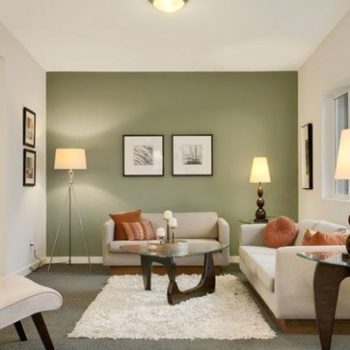 11 Contemporary Grey and Green Living Room Designs   Paint colors ..   living room green walls
