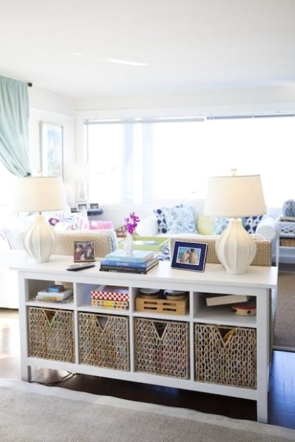11 Organizing Ideas For Every Room in Your House | Living room .. | living room organization ideas