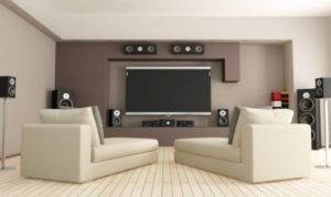 14+ Awesomely Mesmerizing Living Room Theater Ideas to Steal   living room theater