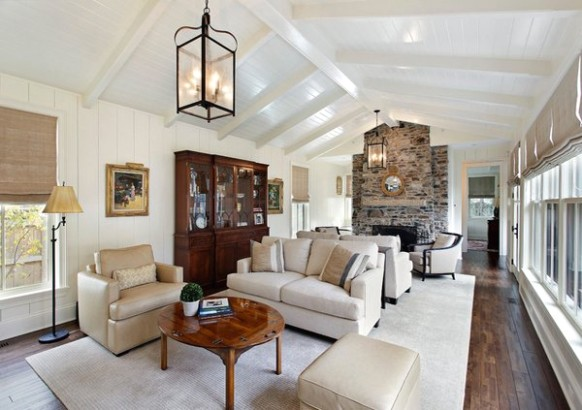 14 Living Room Designs with Vaulted Ceiling | Home Design Lover - living room vaulted ceiling | living room vaulted ceiling