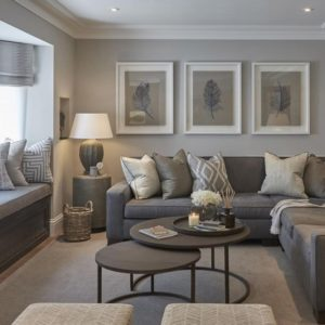 14 Living Rooms With Beautiful Use Of The Color Grey | Elegant ... | living room grey