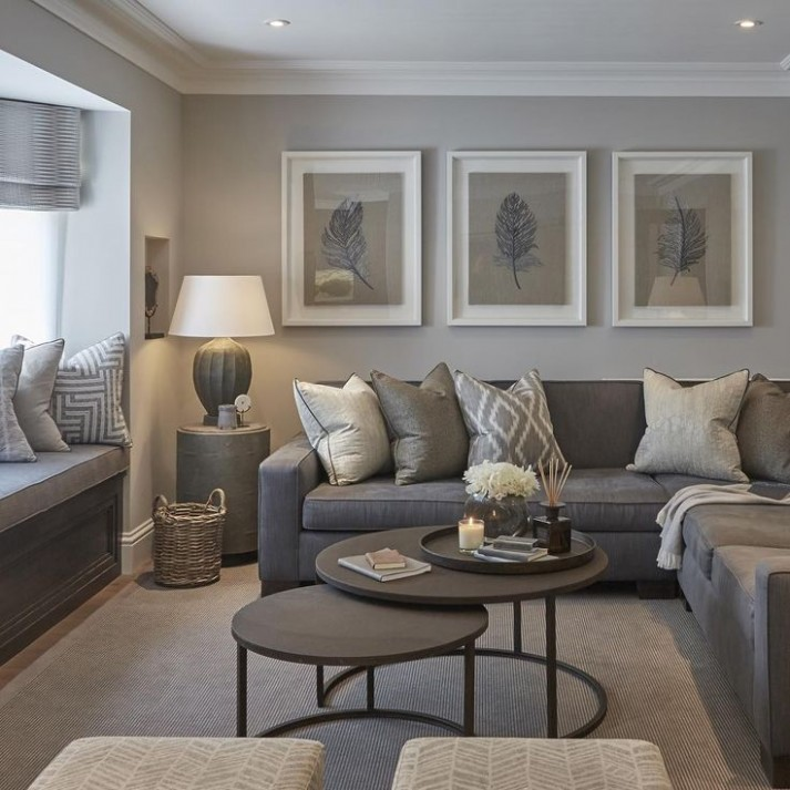 14 Living Rooms With Beautiful Use Of The Color Grey | Elegant .. | living room grey