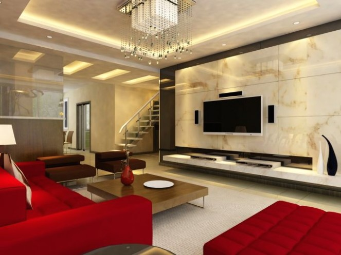 14 Stylish Modern Living Room Ideas (Photos) | Ceiling design .. | living room wall design