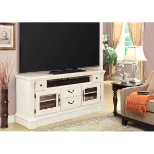 15 Inch Burnished White TV Stand - Fremont | living room 65 inch tv