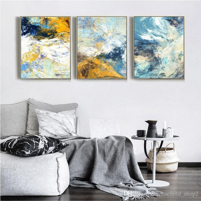 16 16 Abstract Canvas Wall Paintings For Living Room Kitchen Room  Decoration Modern Colorful 16*16cm Framed Wall Art Paintings From .. | living room paintings