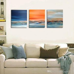16 Handmade Wall Art Modern Oil Painting Abstract Paintings Picture On  Canvas Wall Pictures For Living Room Free Shipment Seascape From ... | living room paintings