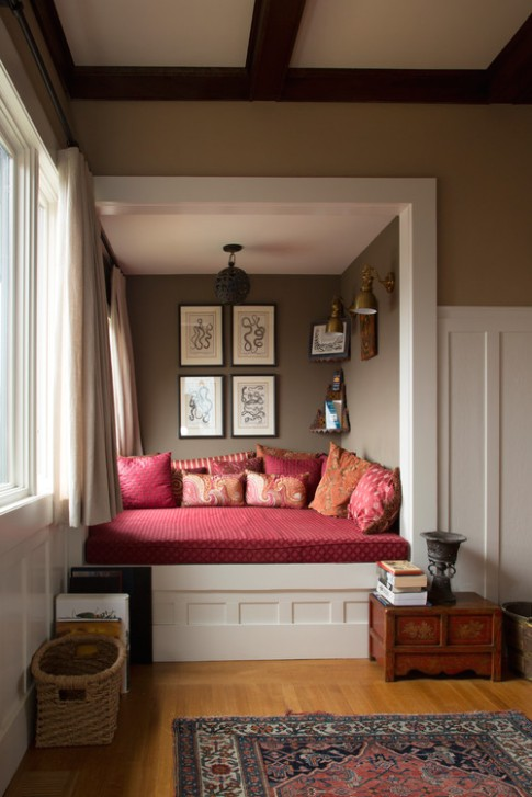 18 Reading nooks that will make you want to curl up with a book .. | living room nook