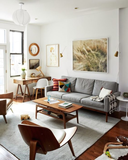 18 Ways To Pull Off An Office Nook In A Living Room - living room nook | living room nook