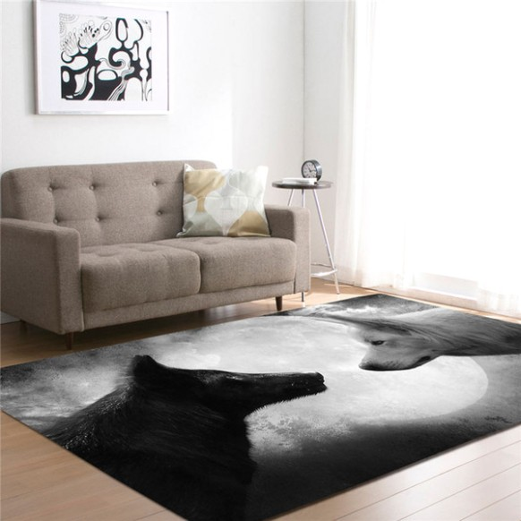18D Wolf Printed Carpets For Living Room Bedding Room Hallway Large  Rectangle Area Yoga Mats Modern Outdoor Floor Rugs Home Decor Home Carpet  .. | living room yoga