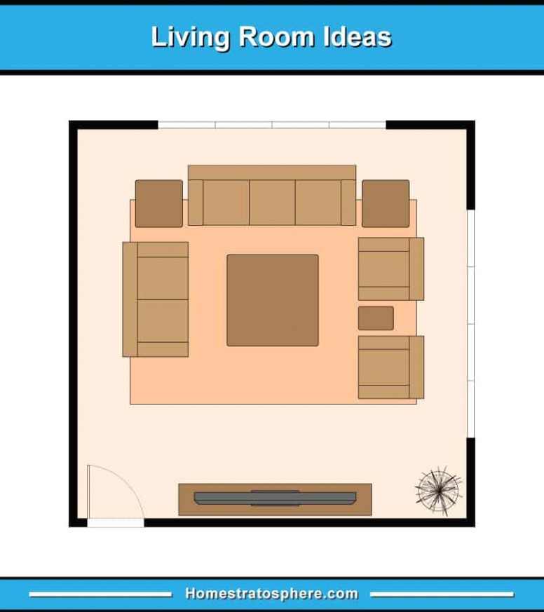 19 Living Room Furniture Layout Examples (Floor Plan Illustrations) - living room plan   living room plan