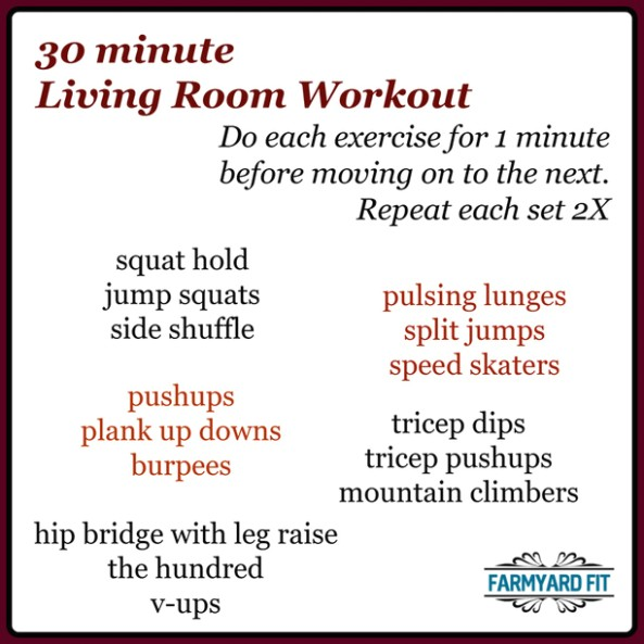 19 minute Living Room Workout - Farmyard Fit - living room exercises | living room exercises