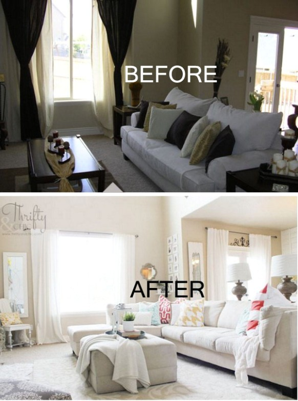 20 Awesome Before and After Living Room Makeovers – Page 20 ... | living room makeover