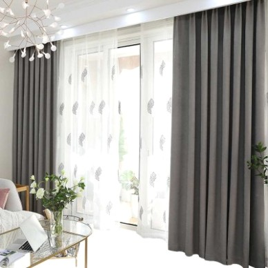 20 Color Nordic Style Curtain, Solid Color Curtains for Living Room Bedroom,  Modern Minimalist Blackout Curtain - living room curtains | living room curtains