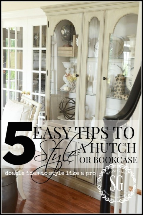 20 EASY TIPS TO STYLE A HUTCH - StoneGable - living room hutch | living room hutch