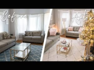$20 LIVING ROOM MAKEOVER ON A BUDGET! DIY DECOR | living room makeover