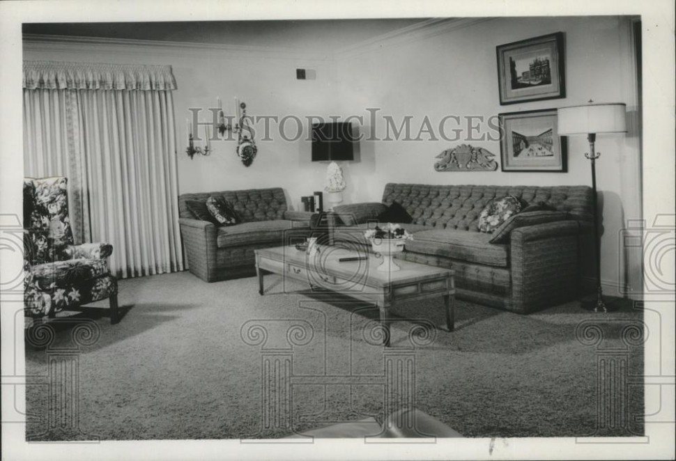 20 Press Photo Living room interior design - spa20 - living room 1960 | living room 1960