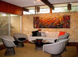 20's Architect's home refurbished with color, textiles and ... | living room 1960