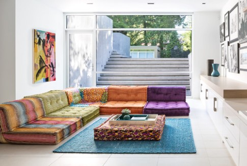 20 Seating Alternatives for a No-sofa Living Room | Houzz - living room no couch | living room no couch