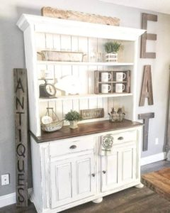 20 Timeless Farmhouse Dining Room Design Ideas that are Simply ... | living room hutch