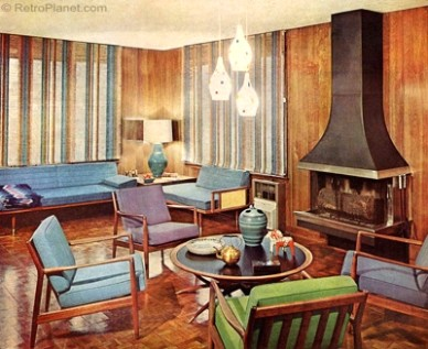 20s Decorating Style - living room 1960 | living room 1960