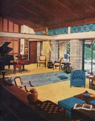 20s Furniture Styles Pictures - Interior Design from the 20s - living room 1960 | living room 1960