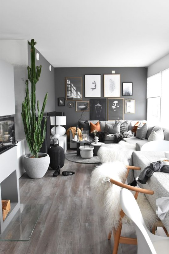 21 Calming Gray Living Room Ideas 21 (For Cool People) - Dovenda - living room 2020 | living room 2020