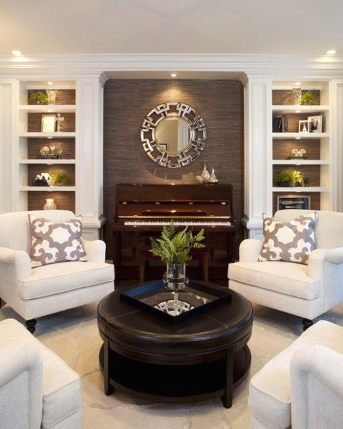 21 chairs around a round table | Traditional living room .. | living room 4 chairs