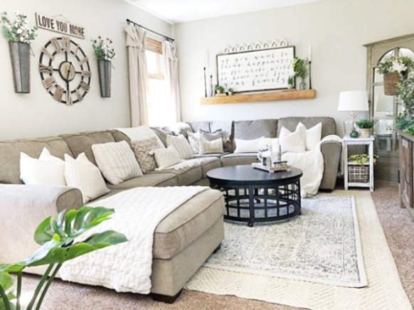 21 Farmhouse Rugs You Can Actually Afford - Lolly Jane - living room rug ideas | living room rug ideas