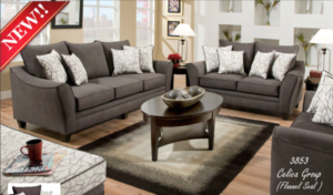 21211 Sofa, Loveseat & Chair & 211/21 Flannel Seal Celica Collection | living room 2 chairs