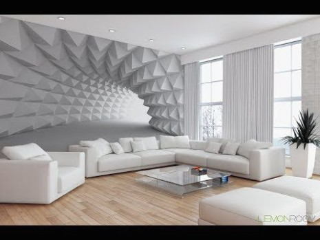 21D Wallpaper design. Latest Drawing Room Design. 21 House .. | living room wallpaper