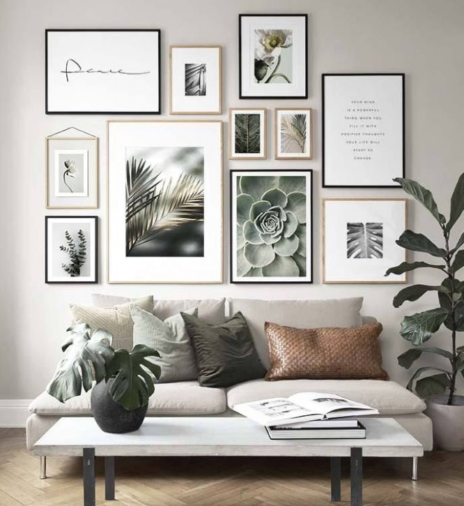 9 Marvelous Gallery Wall Living Room Ideas - idecoration - living room gallery wall | living room gallery wall