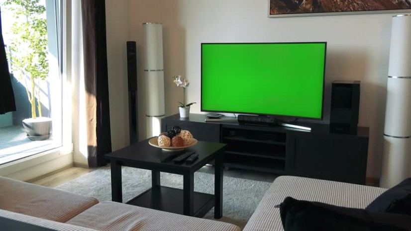 A Tv with a Green Stock Footage Video (19% Royalty-free) 19 |  Shutterstock - living room tv | living room tv