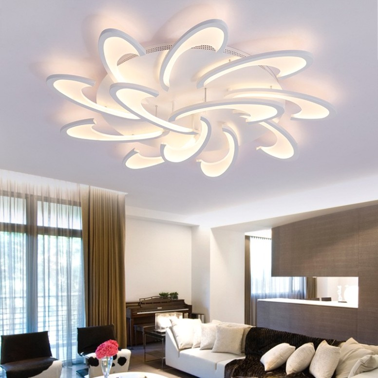 Acrylic Flush Mount High Quality New Modern LED Ceiling Light for Living  Room / Bedroom / Dining Room /Study Room/Office Metal - living room hanging light | living room hanging light