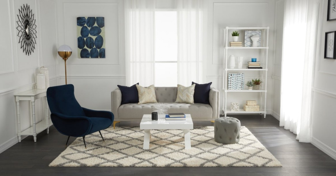 All the Ways You Can Decorate With a Shag Rug | Overstock | living room rug ideas