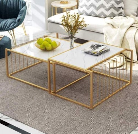 Amazon.com: aHUMANs Simple Living Room Table Sets Nesting Coffee .. | living room table sets