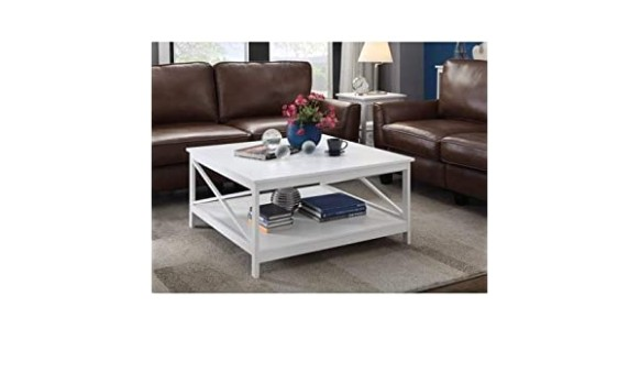 Amazon.com: Cofee Table Center Tables for Living Room Wood White .. | living room necessities