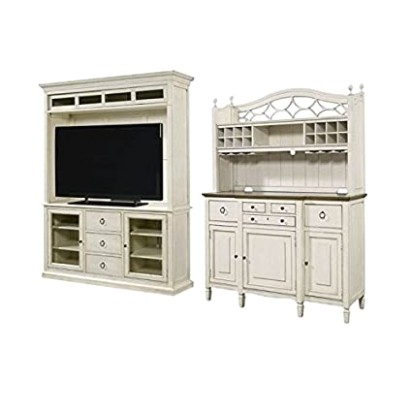 Amazon.com: Home Square 20 Piece Living Room Set with TV Stand .. | living room hutch