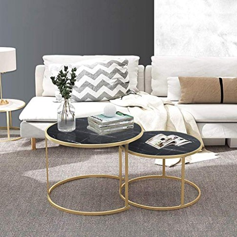Amazon.com: Nesting Coffee Tables for Living Room Table Sets .. | living room table sets