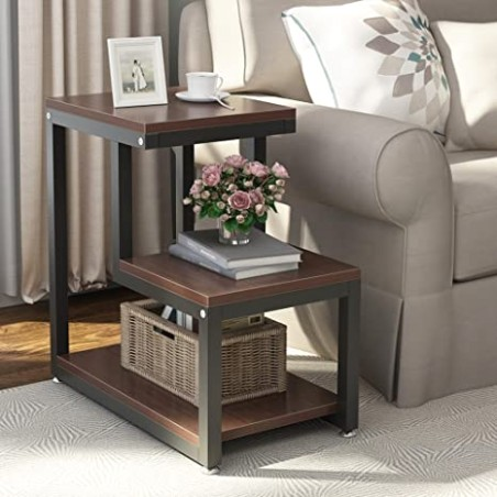 Amazon.com: Tribesigns Rustic End Table, 16-Tier Chair Side Table .. | living room end tables