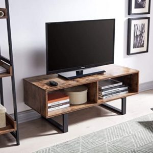 AMOAK Industrial TV Stand with Storage Shelf for Living Room, TV Console  Storage Cabinet, Retro Coffee Table Easy Assembly, Retro Brown | living room tv