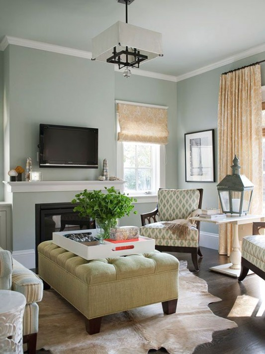 An Open and Family-Friendly Home Makeover | Living room colors .. | living room paint ideas