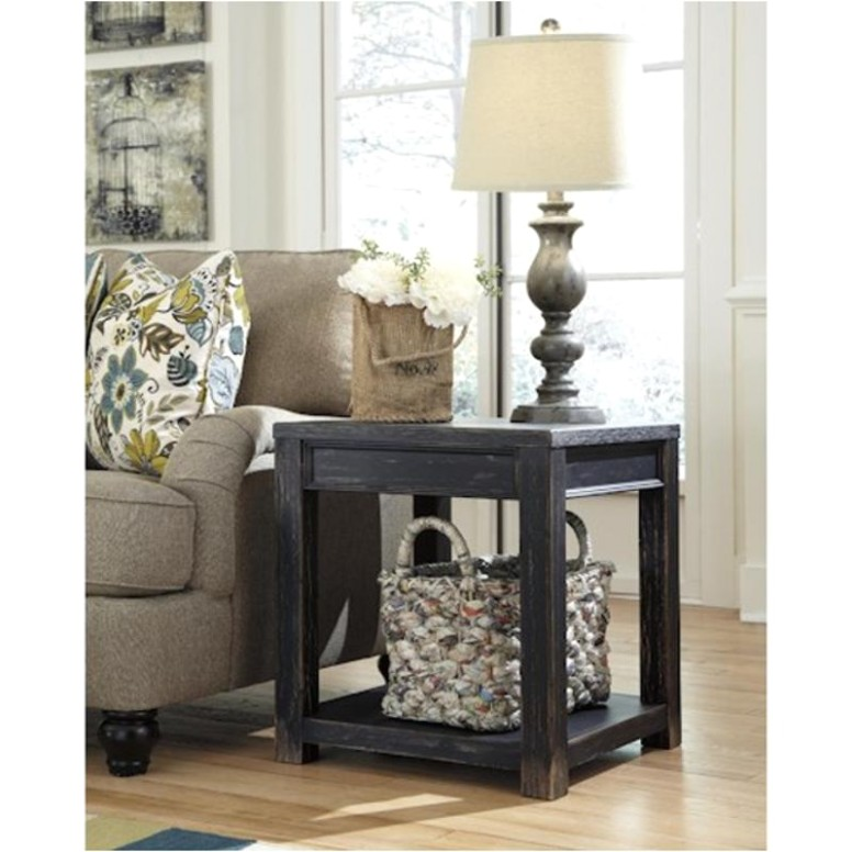 Ashley Gavelston Black Square End Table - living room end tables | living room end tables