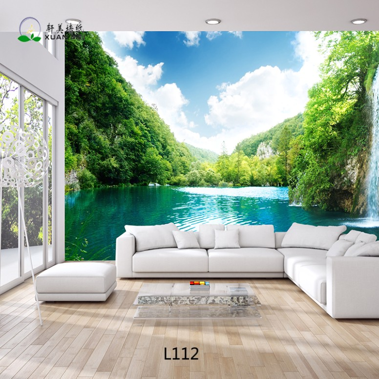 Beautiful Landscape 14d Wallpaper Customized Living Room Wall Paper Wall  Mural - Buy New Design Beautiful 14d Wallpaper,Customized Wall  Mural,Printable .. | living room 3d wallpaper