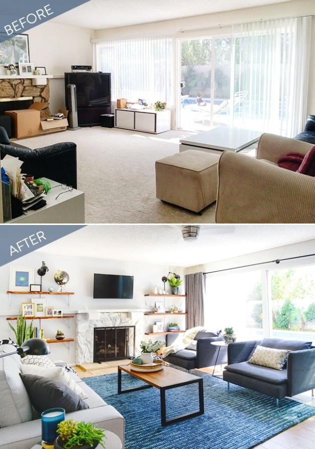 Before and After: A Stylish Living Room Transformation | Living .. | living room remodel ideas