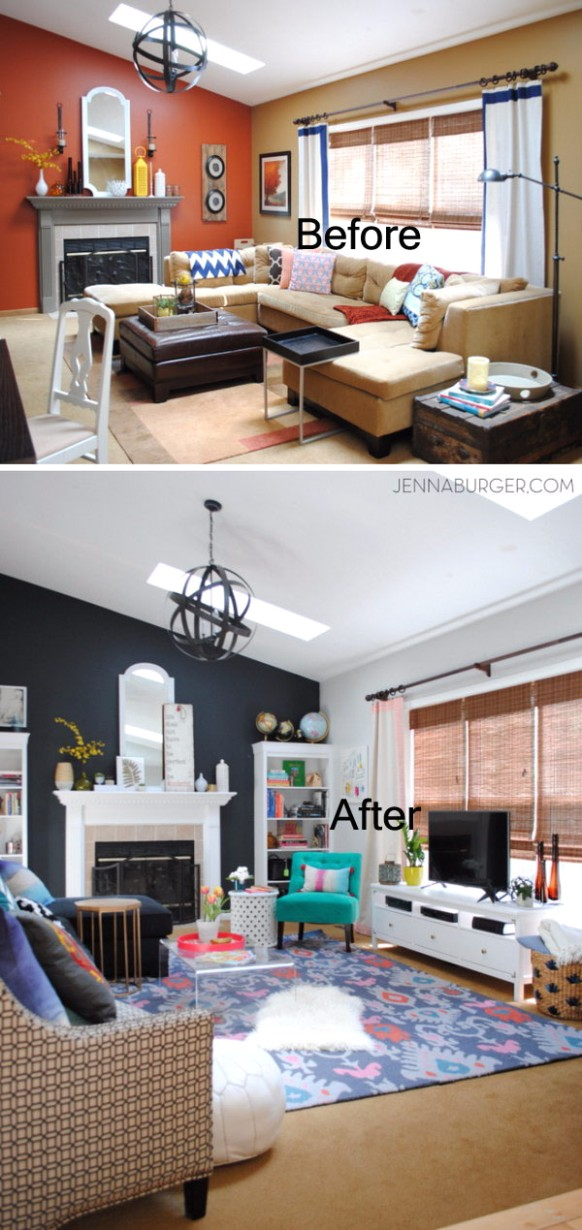 Before and After: Great Living Room Renovation Ideas - Hative - living room remodel ideas | living room remodel ideas