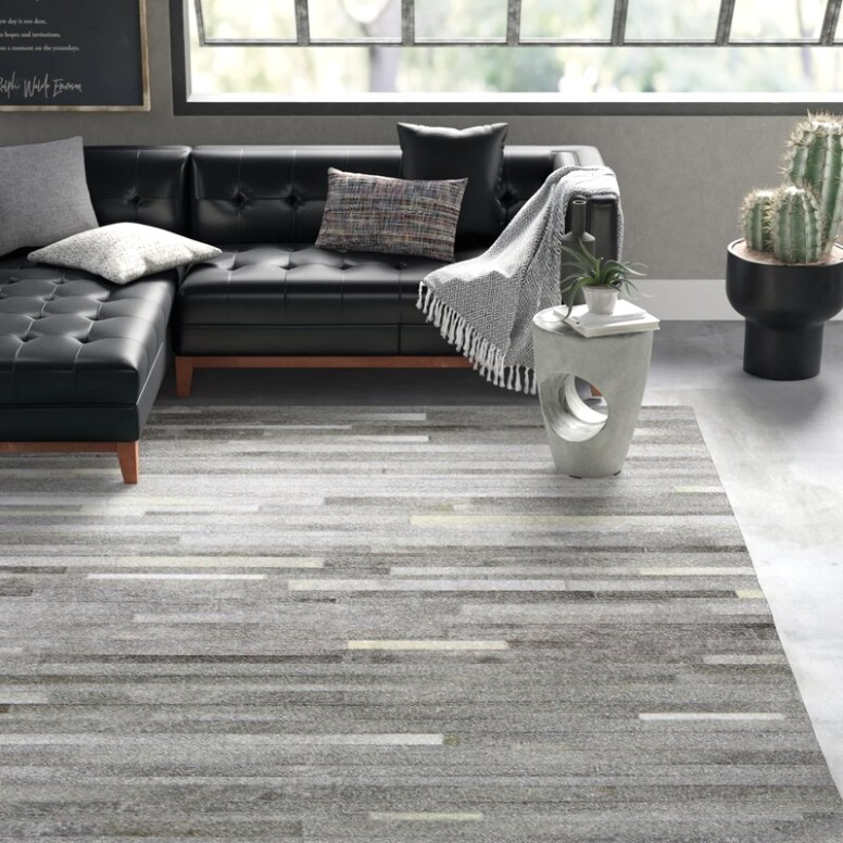 Berdina Flatweave Grey Area Rug - living room rugs | living room rugs