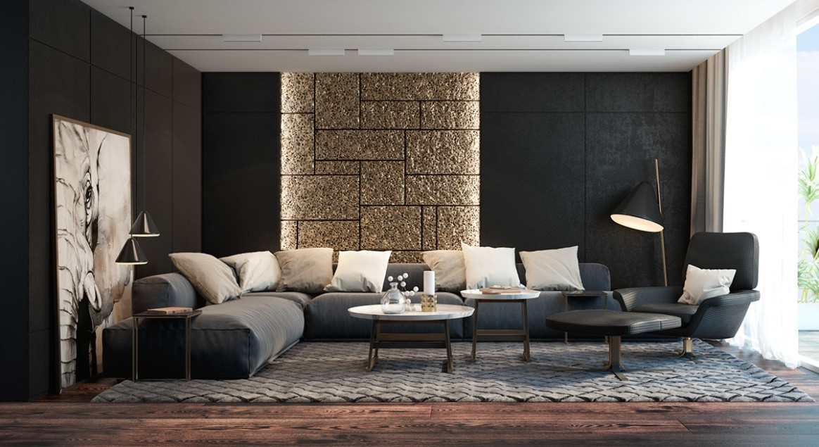 Black Living Rooms Ideas & Inspiration - living room inspiration | living room inspiration