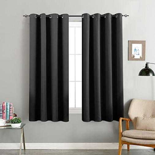 "Blackout Curtain 155 inches Long for Living Room Room Darkrning Window  Curtain Panel for Bedroom Triple Weave Drape Grommet Top,155"" W x 155"" L,15  Panel, .. 